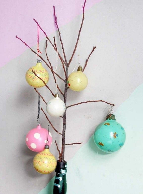 Polka Dot Pastel Pink Christmas Tree Ornaments, Lovely Pastel
