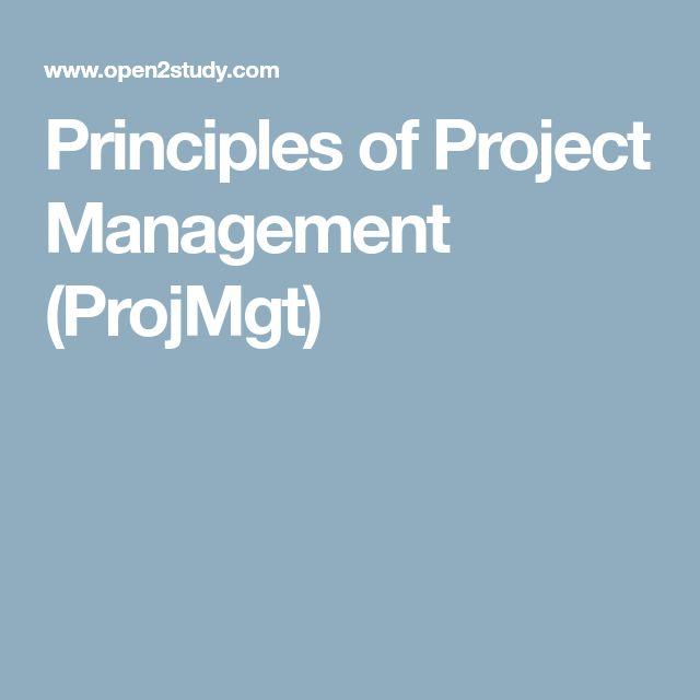 Principles of Project Management (ProjMgt)