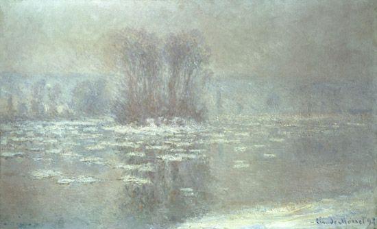 Titre de l'image : Claude Monet - Glace à Bennecourt