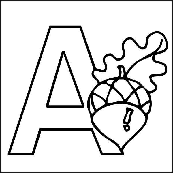 The  Best Letter A Coloring Pages Ideas On   Alphabet