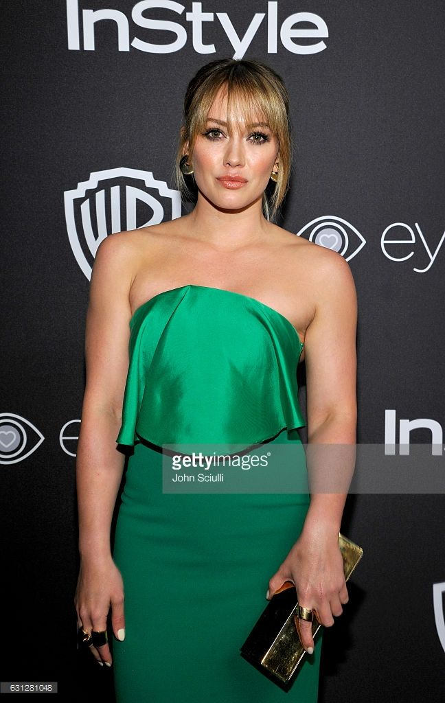 Actress/singer Hilary Duff attends The 2017 InStyle and Warner Bros. 73rd Annual Golden Globe Awards Post-Party at The Beverly Hilton Hotel on January 8, 2017 in Beverly Hills, California.