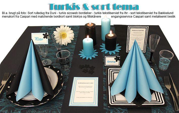 turkis borddækning inspiration