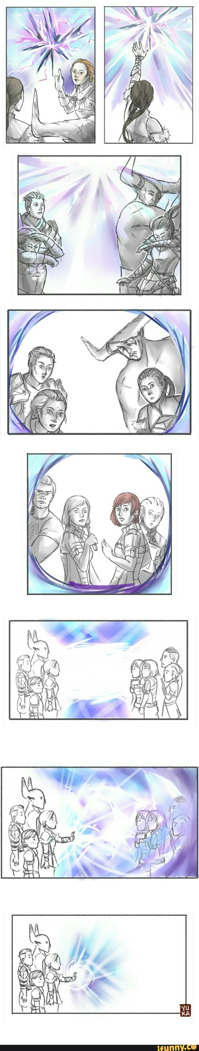 This would have been awesome. I just realized that they are all each other's voice actors, Bull and James, Liara and Harding, Inquisitor and Traynor, and of course, Shepard and Krem.