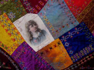 Crazy Stitcher: Sarsaparilla Crazy Quilt