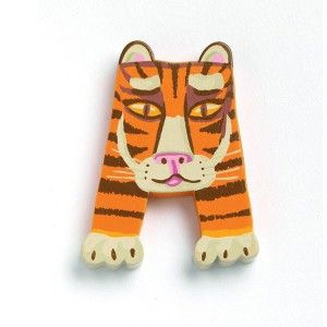 Letras de madera con motivos de Animales de Djeco en kinuma.com - Kinuma