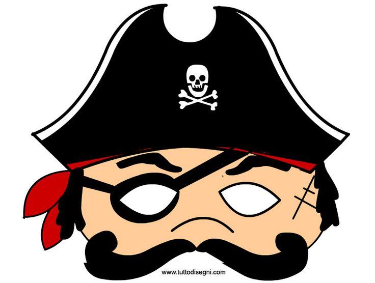 Pirata: maschera per bambini