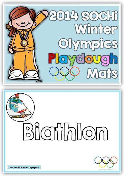 2014 Sochi Winter Olympic Playdough Mats$