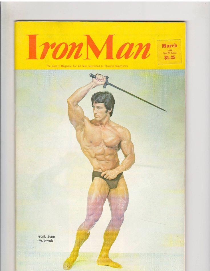 IRONMAN bodybuilding muscle magazine/Mr Olympia FRANK ZANE 3-78