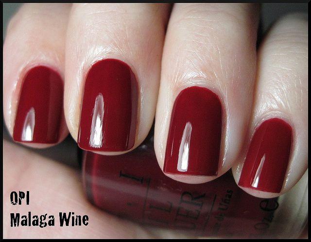 OPI - Malaga Wine; my first opi nail poish