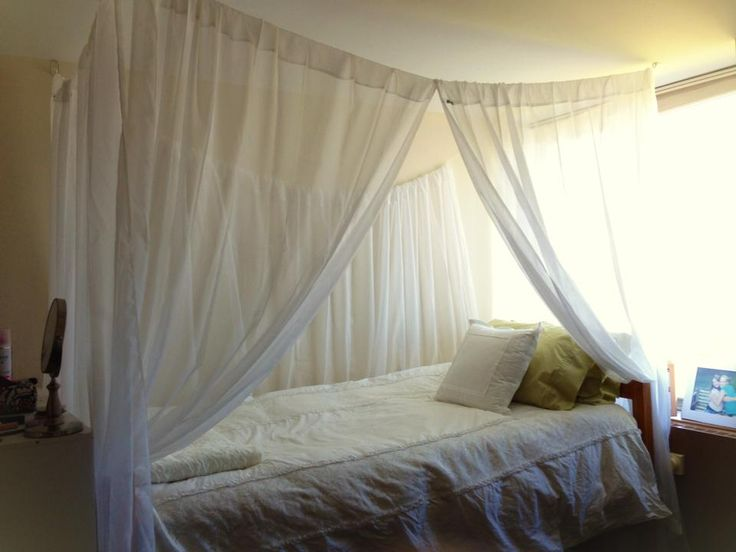 A student made this canopy bed for their dorm room at  ~ 062429_Dorm Room Canopy Ideas