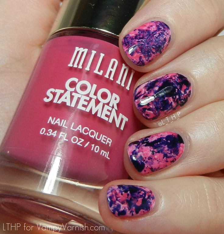 Nail Art Wednesdays with Let Them Have Polish – Cling Wrap: The Ultimate Splatter Nail Art Hack!