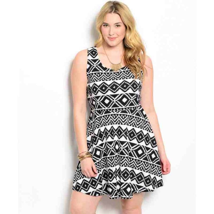 PRE-ORDER - WHITE BLACK PLUS SIZE DRESS $52.00 http://www.curvyclothing.com.au/index.php?route=product/product&path=95_101&product_id=8700&limit=100