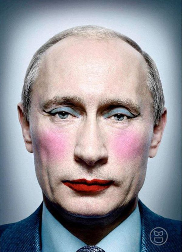 Image result for put some lipstick on pig Putin