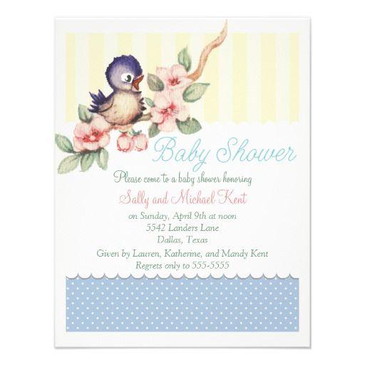20 best Bird Baby Shower Invitations images on Pinterest Shower