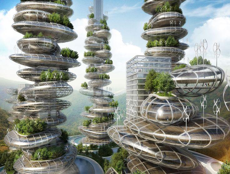 Vincent Callebaut: Asian cairns, Shenzen, china.