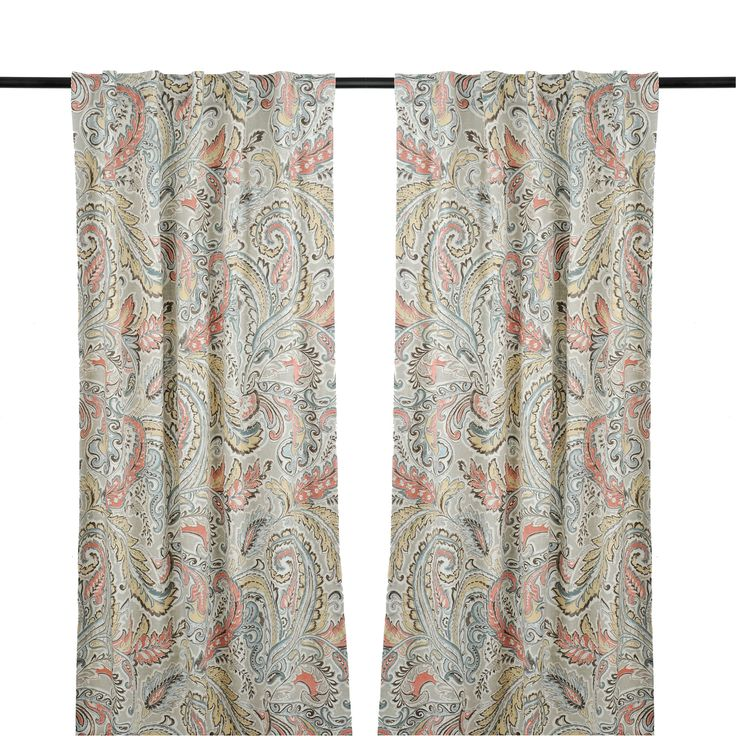 Aqua And Spice Jada Curtain Panel Set 84 In Products
