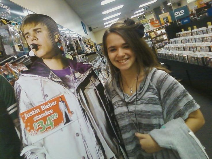 Hahaha me and this cut out Justin Bieber like 2 years ago