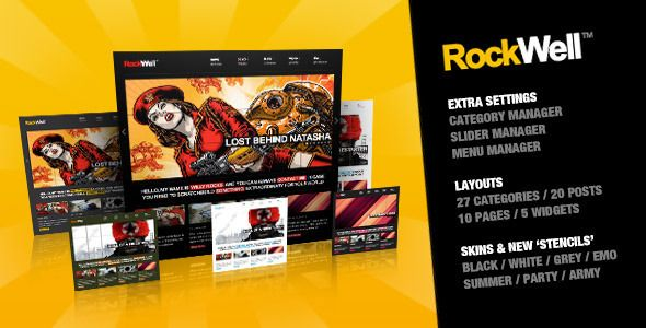 RockWell - Stylish Portfolio Blog Multi Purpose WordPress Theme