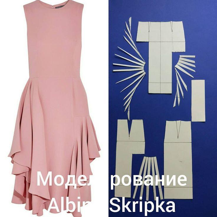 """1,610 отметок «Нравится», 32 комментариев — Альбина Скрипка (@albinaskripka) в Instagram: «Вот такое платье мы разбирали с моими студентами на курсе """" Конструирование и Моделирование"""". . Это…»"""
