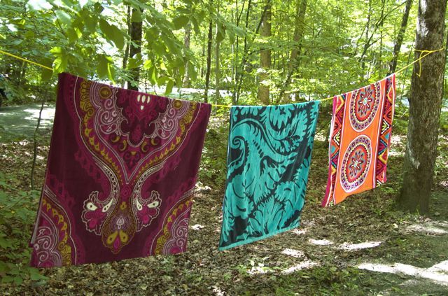 """pretty towels make camping more like glamping and help individuals tell """"their"""" towel from one another's."""