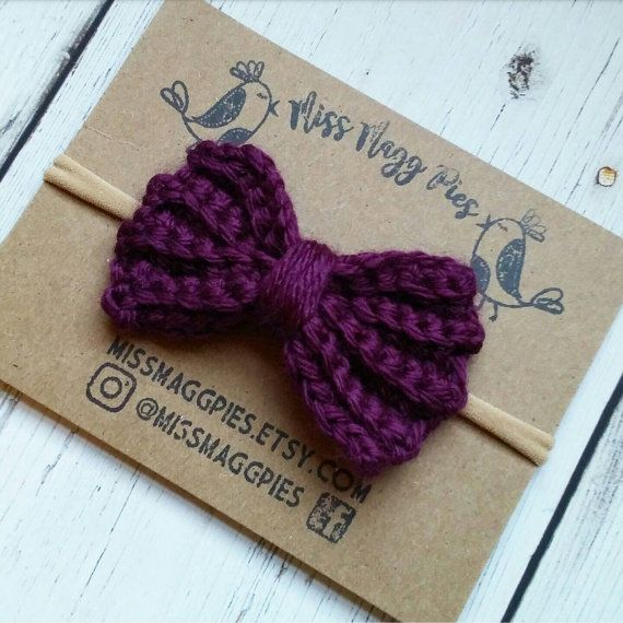 ... Crochet Hair Bows on Pinterest Crochet Bows, Crochet Hair Clips and