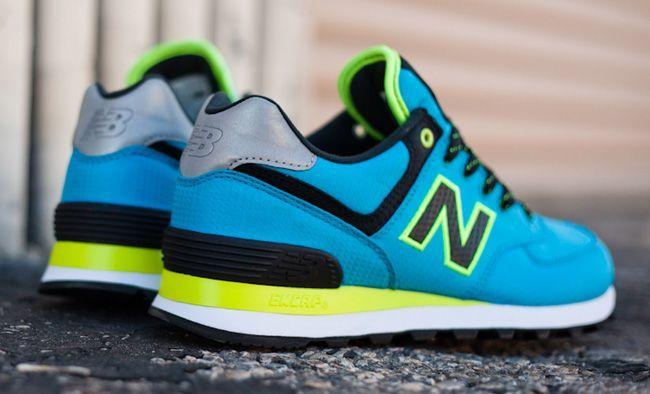 Women's Sneakers :    WMNS New Balance 574 Windbreaker Pack | Blue & Neon  - #Sneakers https://talkfashion.net/shoes/sneakers/womens-sneakers-wmns-new-balance-574-windbreaker-pack-blue-neon/