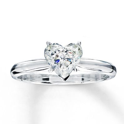 Diamond Solitaire Ring 1 carat Heart-shaped 14K White Gold - Why does it have to be sooo much money!