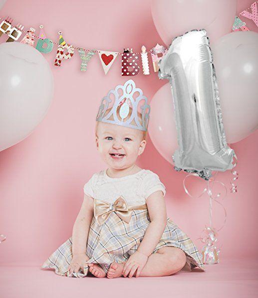 Amazon | TOKYO SATURDAY ハーフバースデー 1歳 2歳 誕生日 女の子 飾り ガーランド パーティーハット 風船 ティアラ バナー 飾り付け (ガールズ1・2) | 紙吹雪・飾り・クラッカー 通販