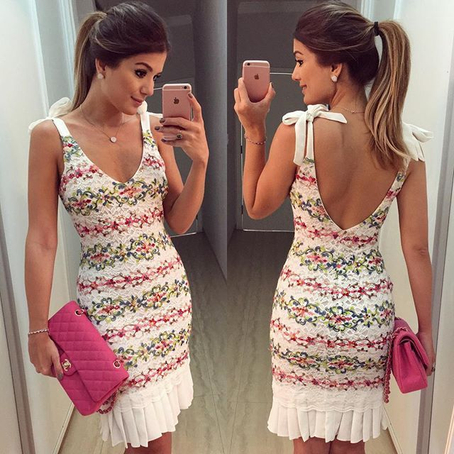 {Sunday } Vestido @mabumastore Renda colorida com lacinho no ombro! Disponível…