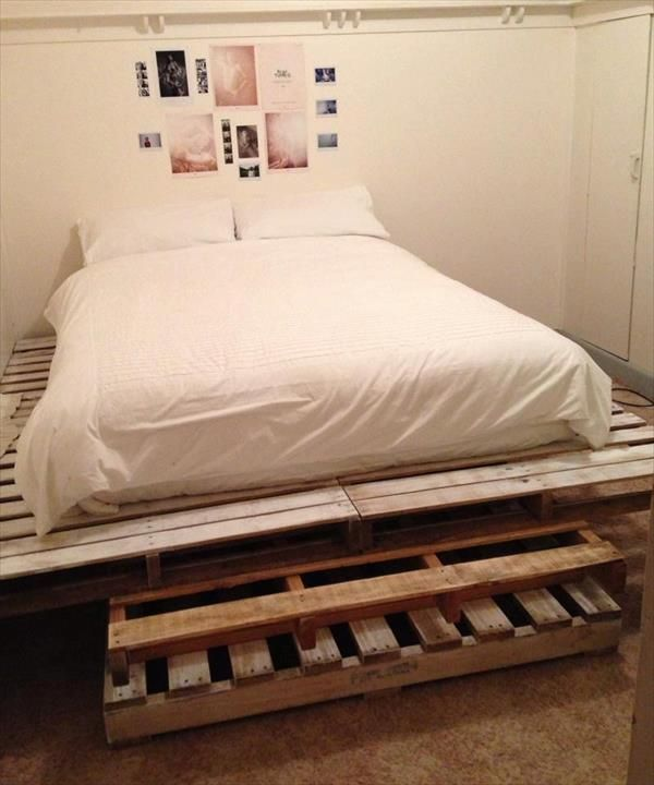 diy making your own pallet patio furniture pallet twin bedsbed frame