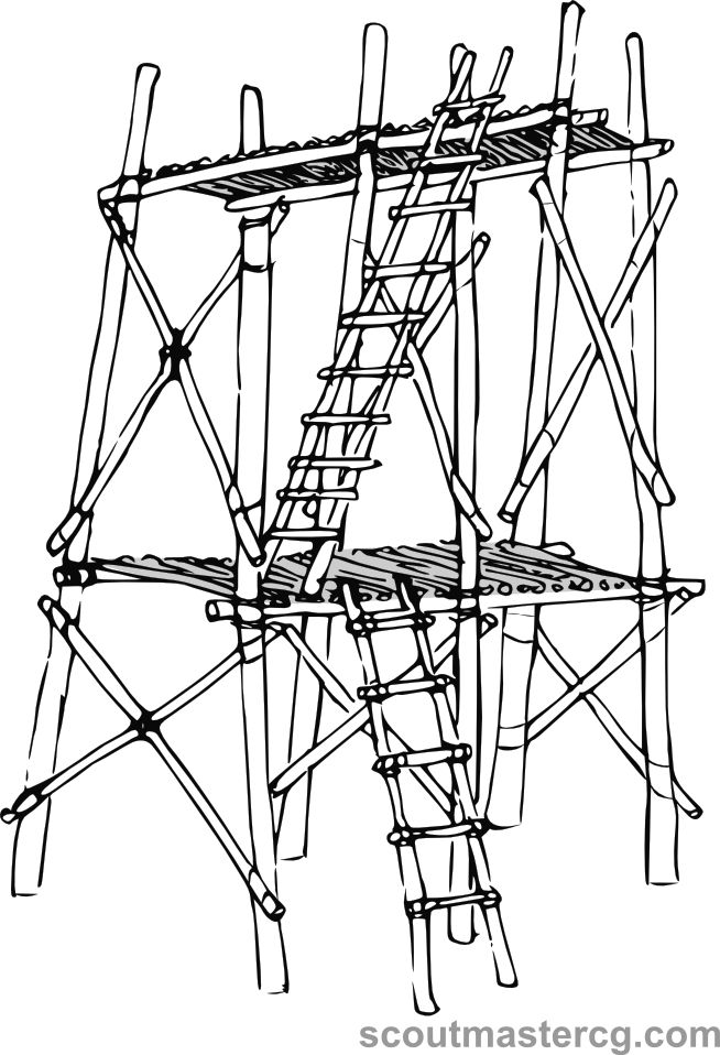 Pioneering tower challenge; build this tower using this sketch. Send me a picture of the result! It won't be easy, certainly, but is it poss...