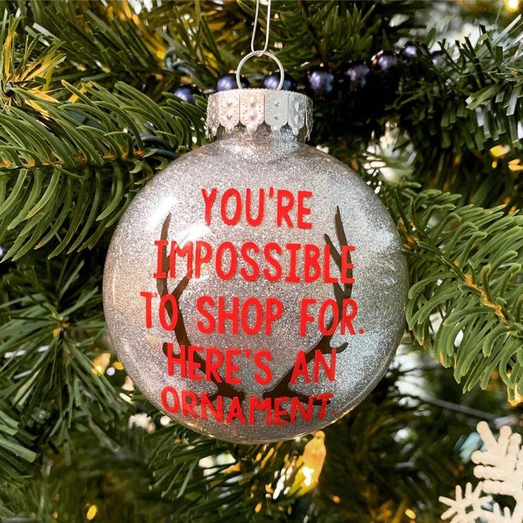 Christmas ornament funny ornament impossible to buy for