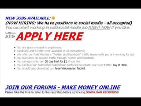 "★★★★★ [POSITIONS VACANT] Make Money Online ★★★★★ If you join refer a webmaster, i will PERSONALLY make you millions of dollars online (WITH EASE). It will be easy for me, but it will be near impossible for you, so you must ""LISTEN, AND NOT QUESTION WHAT I SAY"" - otherwise you will ask one million questions, but there is a damn good reason why I am making the money and you are ""surfing websites, bored, looking for that gift horse"" - WELL YOU ARE STARING AT ME IN THE MOUTH... JOIN."