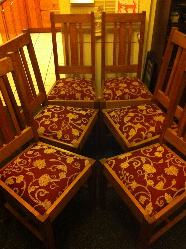 Reupholstered dinning chairs x6