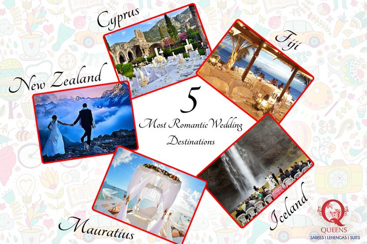 We bring you the 5 most romantic wedding destinations abroad. Where would you like to get hitched ? ‪#‎QueensEmporium‬ ‪#‎Wedding‬ ‪#‎Destination‬