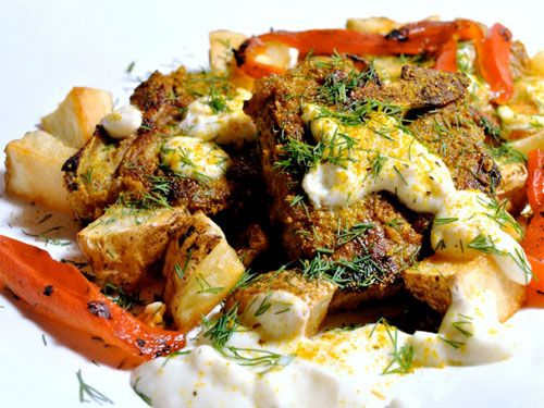 """""""41 Recipes with Greek Yogurt We Love"""" -- categorized into """"Dips, Salads, Sides,"""" """"Mains,"""" and """"Sweets.""""  Shown: """"Vadouvan Crusted Lamb Chops with Toasted Garlic Yogurt Sauce""""Deliciousfood Syreetajk1228, Sauces Recipe, 41 Greek, Greek Yogurt Recipe, 41 Recipe, Recipe Deliciousfood, Crusts Lambs, Garlic Yogurt, Lambs Chops"""