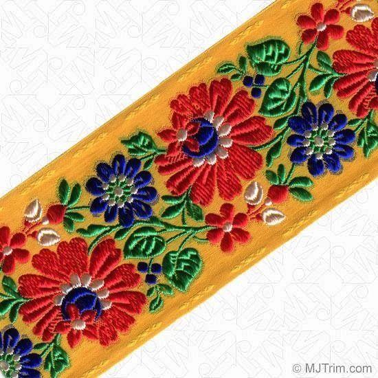 Tyrolean floral ribbon jacquard design