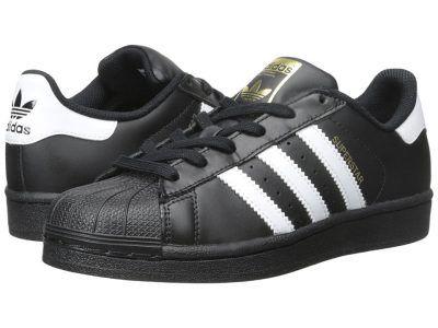adidas Originals Kids - Superstar - Foundation (Big Kid) (Black/White/