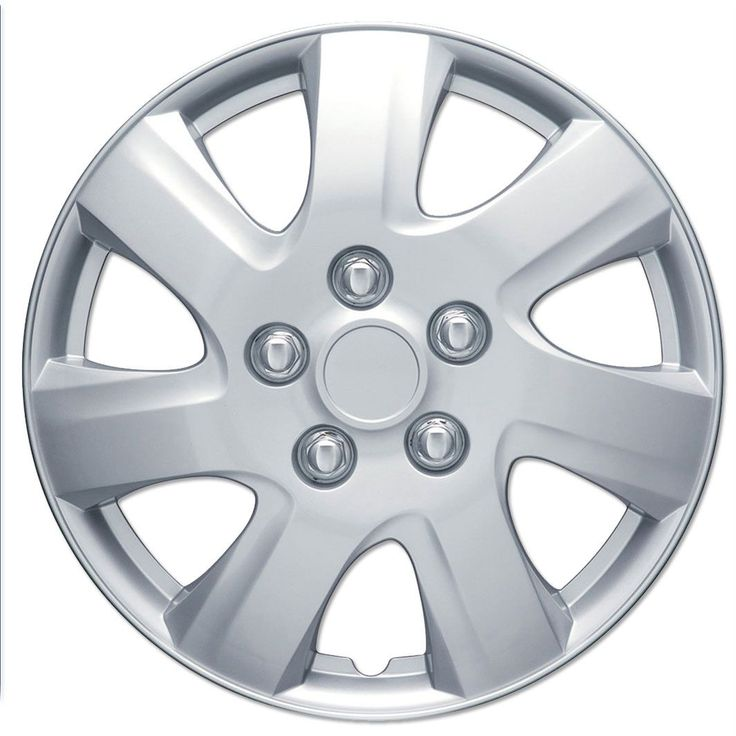 "BDK 2010-2011 Toyota Camry Style Hubcaps OEM Replica Wheel Covers 16"" Silver Full Set of 4 Pieces"