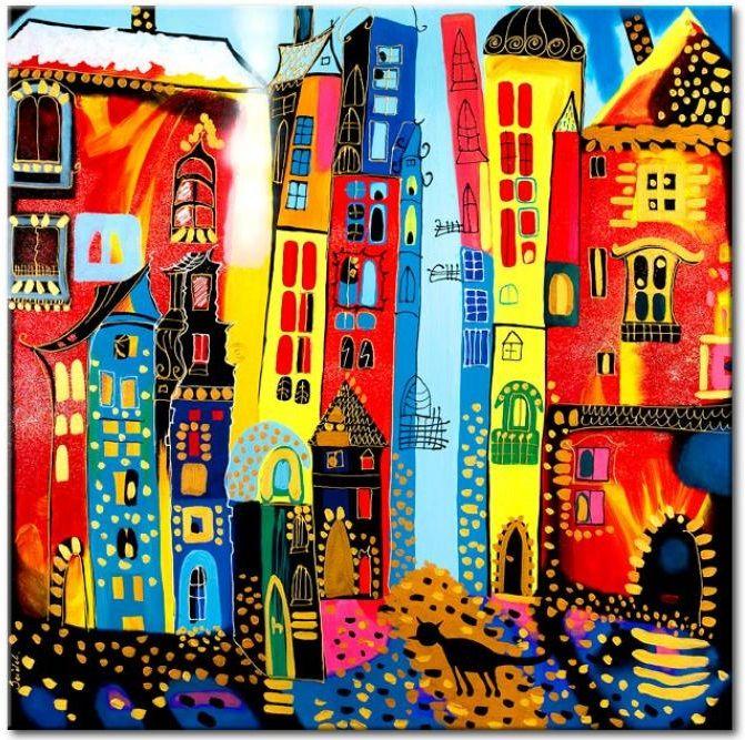 Cuadro para bebes Calle mágica y otro gatito en nuestros cuadros ツ y nuestro hijo puede imaginarse como pasea por esta calle mágica... ♥