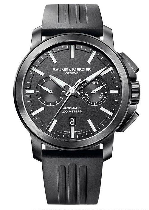 MOA08853 Baume & Mercier Classima Executives Magnum XXL Chronograph Black PVD Steel - швейцарские мужские часы наручные, черные