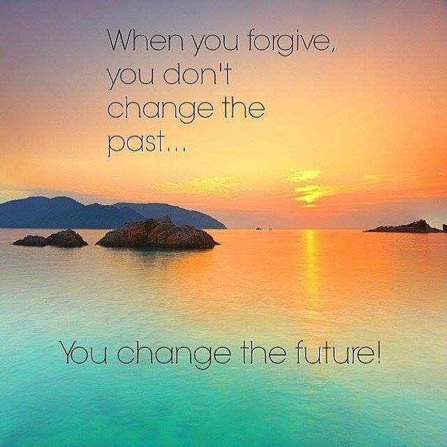 Börja med att förlåta dig själv.  Förlåt - Släpp taget - Bli fri.