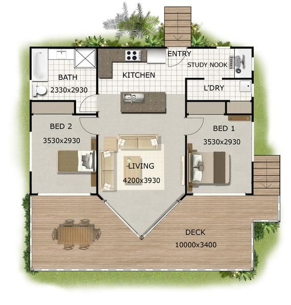 1 And 2 Bedroom House Plans Book Small Houses Granny Flats