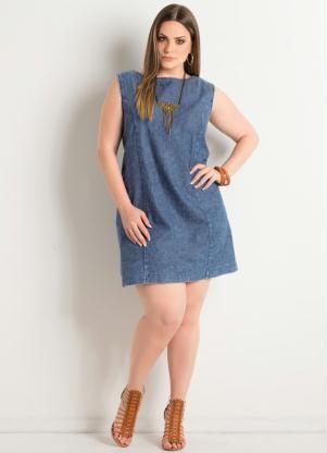 Vestido Tubinho Jeans Plus Size - Posthaus                                                                                                                                                      Mais