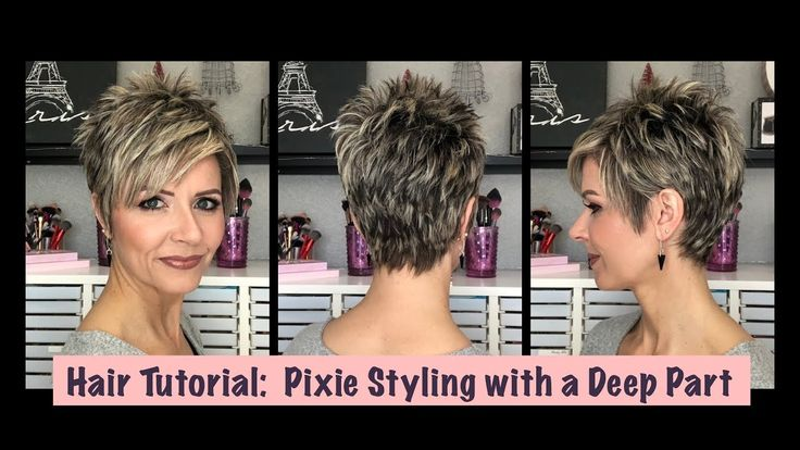 Hair Tutorial: Pixie Styling with a Deep Part