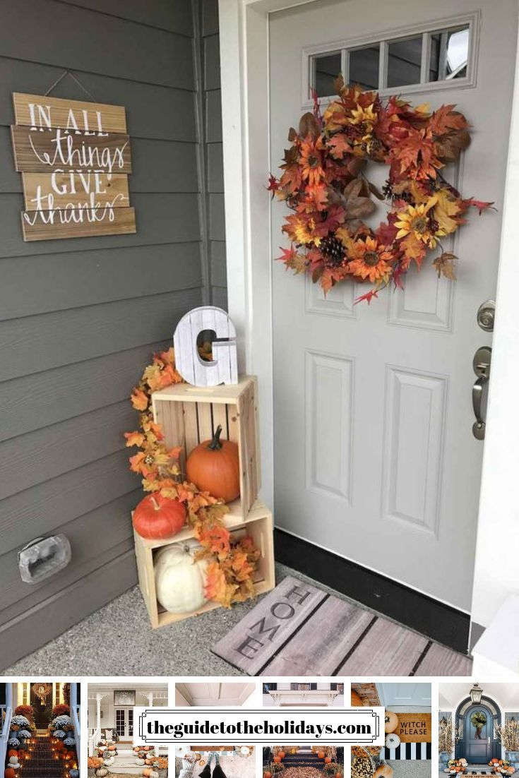 These cute fall porch ideas are sure to look stunning! From memorable floor mats to beautiful decoration ideas for stairs, there is something forever