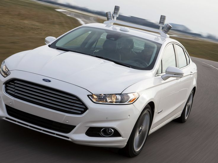 Ford's the first automaker to test an autonomous car at Mcity, the little fake town built just for self-driving vehicles.