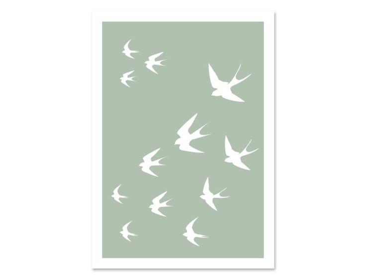 "Postkarte ""BirdMail #03"" by Held&Lykke  #postcard #birds #swarm #papeterie #heldundlykke"