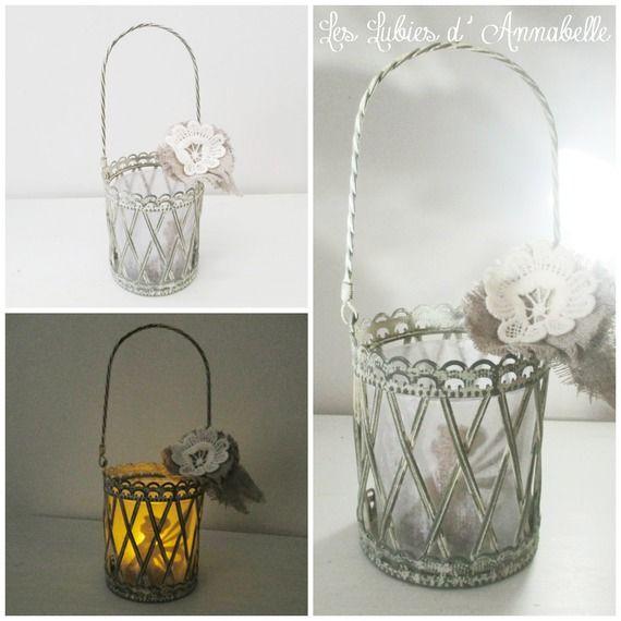 Lanterne photophore ou veilleuse petite Fée bougie à LED