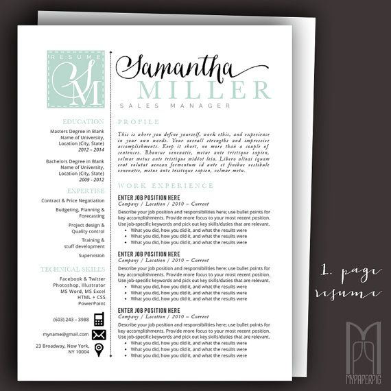 15 best Modern \ Creative RESUME TEMPLATES -- (CUSTOM NAME HEADER - mac pages resume templates
